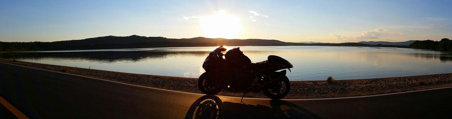 Suzuki Lake Hayabusa Sunset Mainelife Maine Cellphone Photography Edge Of The World