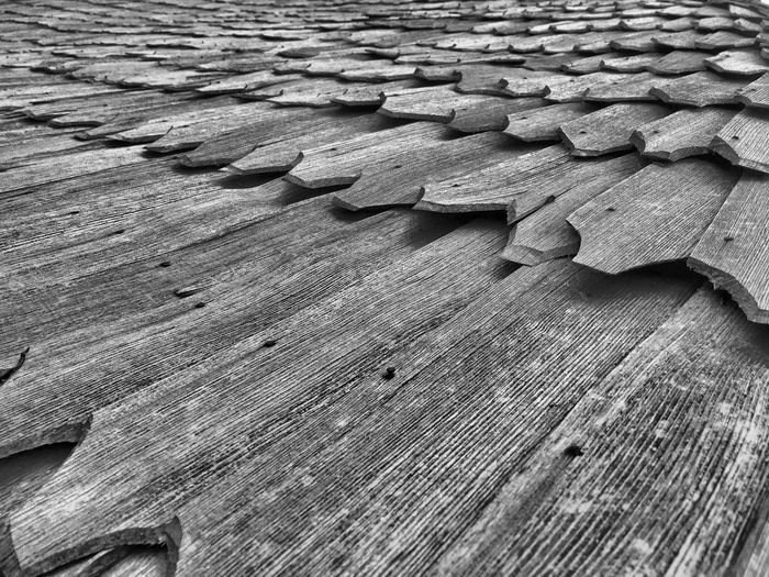 Old house roof.