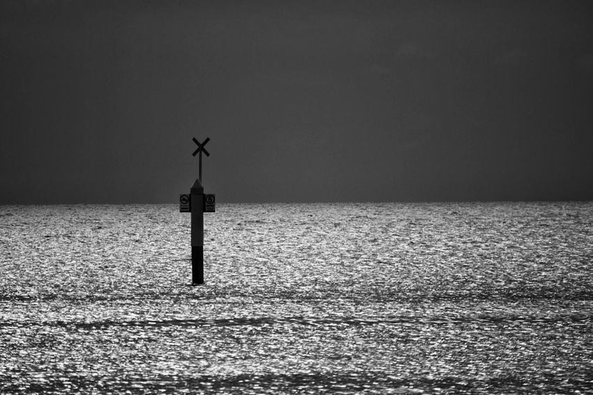 Sea And Sky Seaside Sea View Sign Signs Horizon Over Water Horizon Horizon Over Sea Sea Dusk Dusk Sky Black And White Mornington Peninsula Melbourne Australia Monochrome Light On Water Reflection Dusk Out At Sea Ocean View Warning Sign Feel The Journey Fine Art Pho Monochrome Photography tography