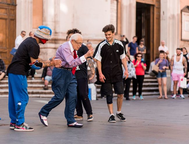 Streetphotography Dance Elderly Aging In Style Aging Travel Photography Travel Streetphotography Street Dancing Oldman Sport Full Length Men Friendship Group Of People Outdoors Day Togetherness People Adult City Teamwork Young Adult Press For Progress Moving Around Rome Stories From The City Stories From The City Inner Power This Is Aging Summer Exploratorium Focus On The Story The Street Photographer - 2018 EyeEm Awards The Photojournalist - 2018 EyeEm Awards