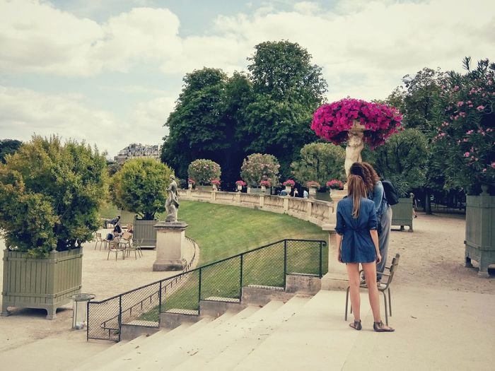 People Standing At Jardin Du Luxembourg