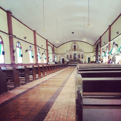 It's my first time here :D Church Sibulan ResearchGetaway Studentnurses