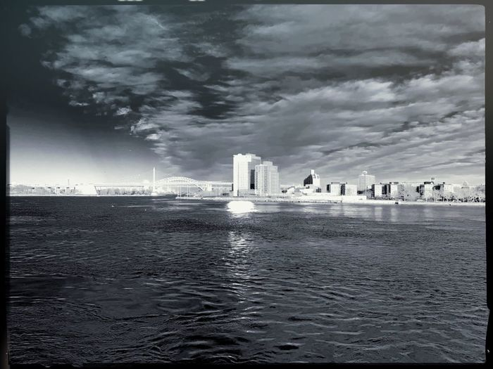 East River IR Infrared Photography Infrared Water Cloud - Sky Architecture Sky Built Structure Waterfront Sea Bridge City Bridge - Man Made Structure