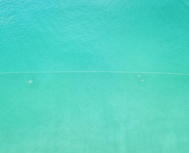 Aerial view of turquoise seascape