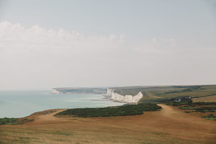Beachy Head Beachyhead Coastline Grass Holiday Horizon Over Water Idyllic Landscape Nature No People Non-urban Scene Outdoors Remote Scenics Sea Shore Sky Summer The Way Forward Travel Water The Great Outdoors - 2016 EyeEm Awards The Great Outdoors With Adobe Lost In The Landscape