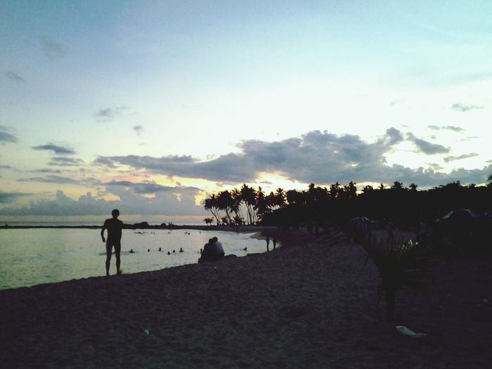 Beach Life Sunset Silhouettes Dominican Republic