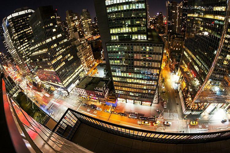 New York city night life David Gutierrez I Love My City Pixelperfectnyc Skyscrapers Newyorkcity Yellowcab Landscape Taxi Bikers Beautiful