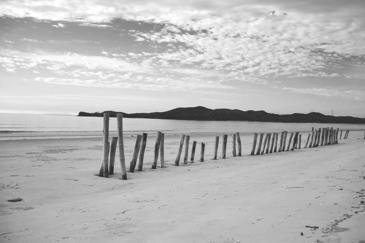 Beach Beauty In Nature Black & White Black And White Blackandwhite Cloud - Sky Day Horizon Over Water Korea Landscape Mountain Nature No People Outdoors Sand Scenics Sea Shore Sky Tranquility Water