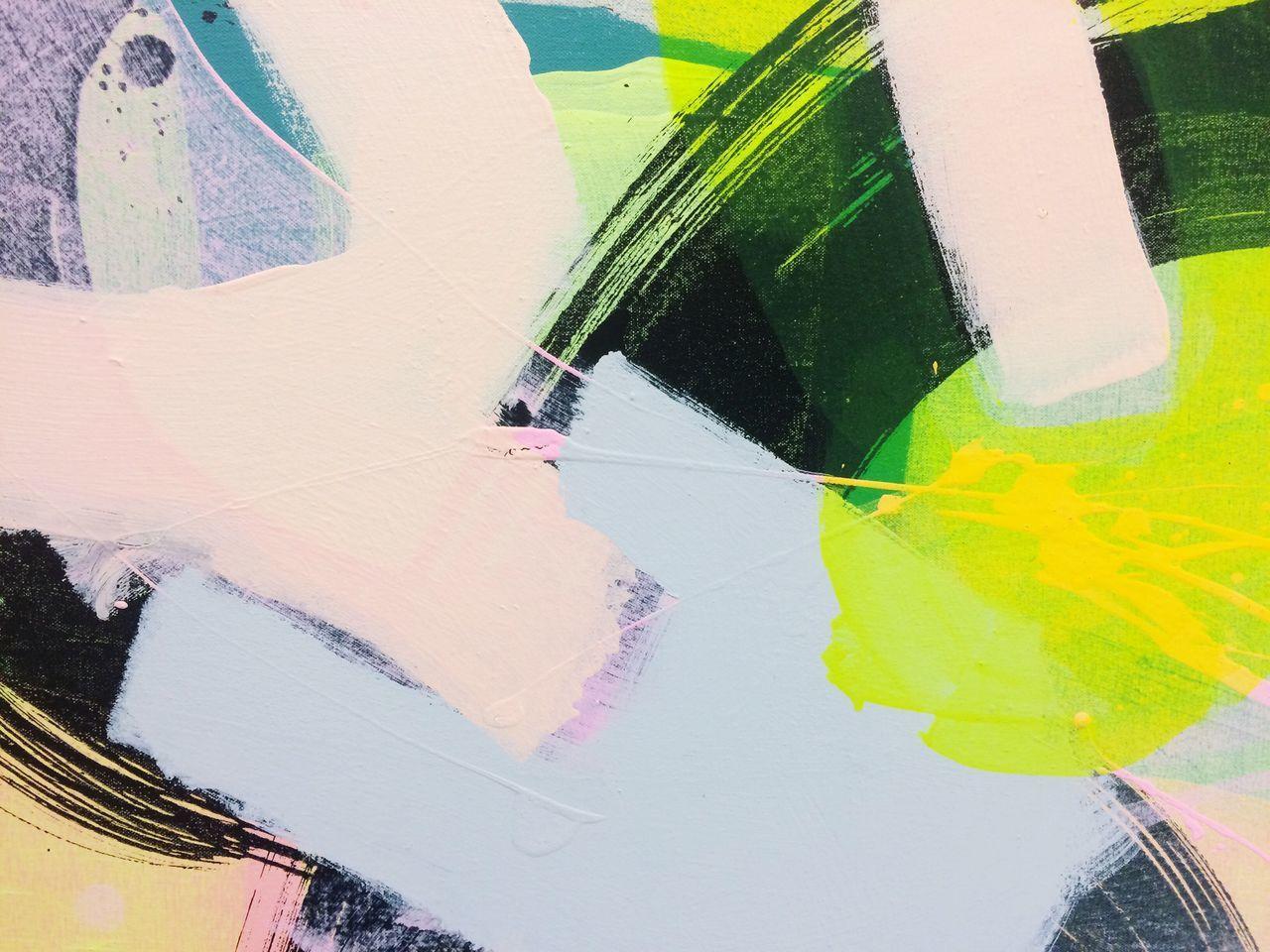 Brush strokes on canvas