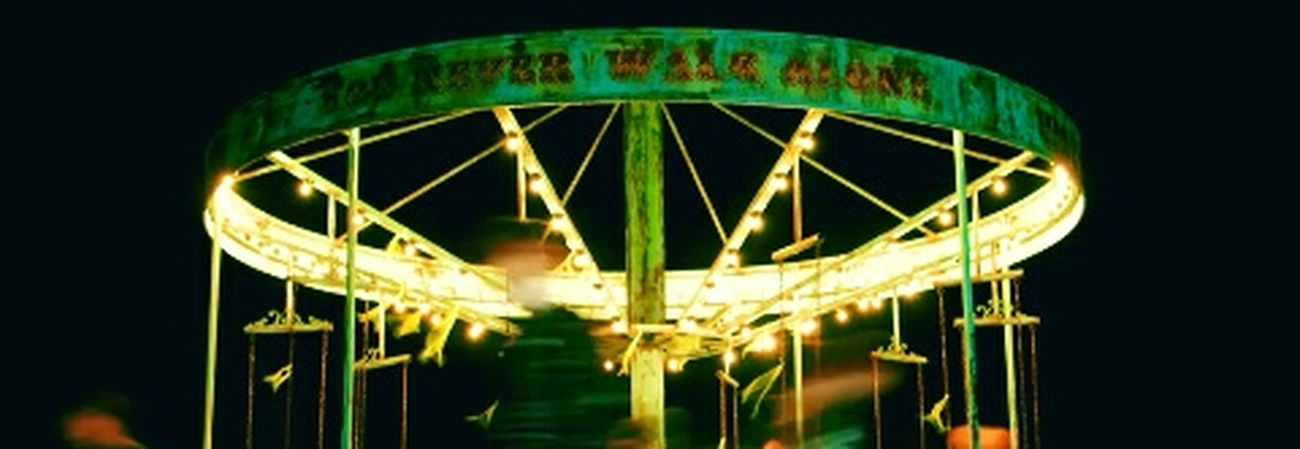 illuminated, night, amusement park, ferris wheel, no people, black background, amusement park ride, close-up, sky, outdoors