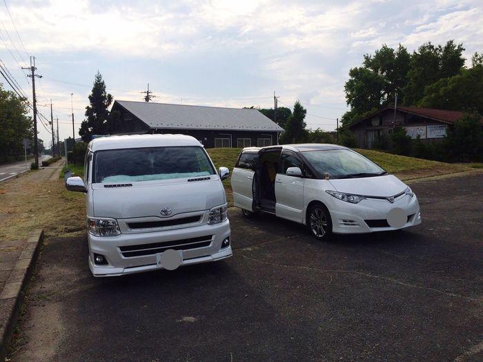 Passeio  Enjoying Life Carro Férias Verão Foto tirada nas férias de verão☀️ Toyota Estima Toyota Previa Toyota Hiace 夏の思い出