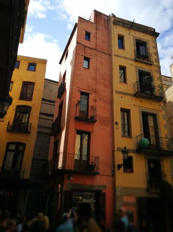 Low Angle View Building Exterior Façade Architecture Cloud - Sky Low Angle View Streets Of Barcelona Barcelona