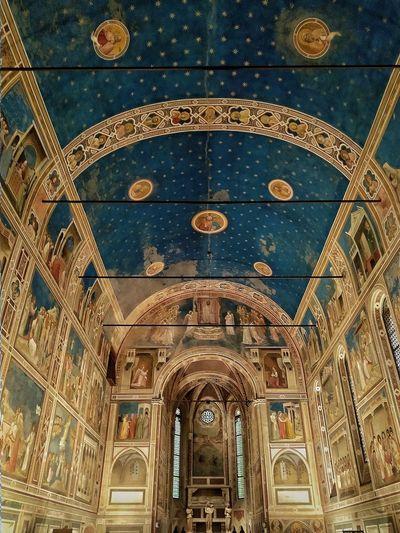 Padova, Aprile 2019 Hdr_Collection Cappella Degli Scrovegni Interior Historical Building Full Frame Art Giotto Architecture