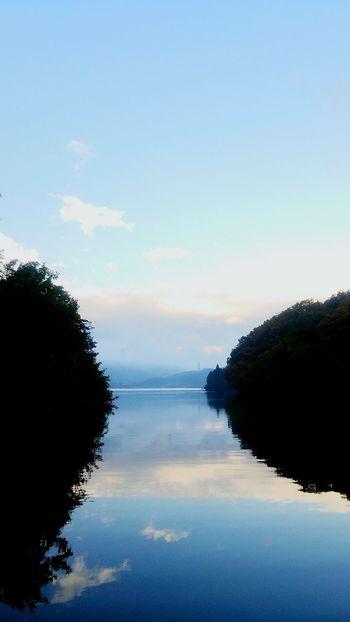Reflection Water Lake Scenics Beauty In Nature Nature Sky Outdoors Landscape Horizon Tranquil Morning TheWeekOnEyeEM Eyeemphotography Taking Photos EyeEm Selects This Week On EyeEm. Japan 風景 景色 反射