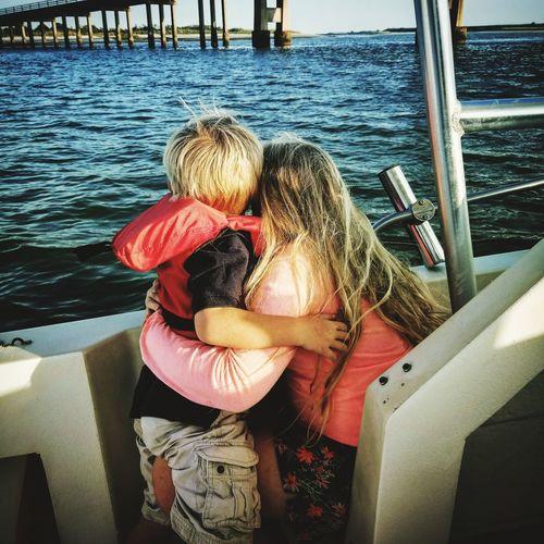 Love ♥ SiblingsLove❤ Siblings ♡ Siblings Boat Ride Boats⛵️ Boats And Water SummerNights Jerseyshore DownByTheSea Water Nautical Vessel Sitting Togetherness Sea Men Bonding Childhood Shore