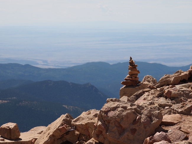 EyeEmNewHere Balance Beauty In Nature Day Mountain Nature No People Outdoors Physical Geography Pikes Peak Rock - Object Rock Formation Scenics Sky Tranquil Scene Tranquility Water