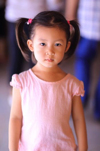 Childhood Child Girls Offspring Portrait Cute Women Indoors  One Person Females Fashion Emotion Innocence Looking At Camera Lifestyles Front View Waist Up Standing Clothing Small