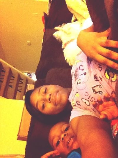Laying Down Wit My Favorite Animals. Dj And Princess