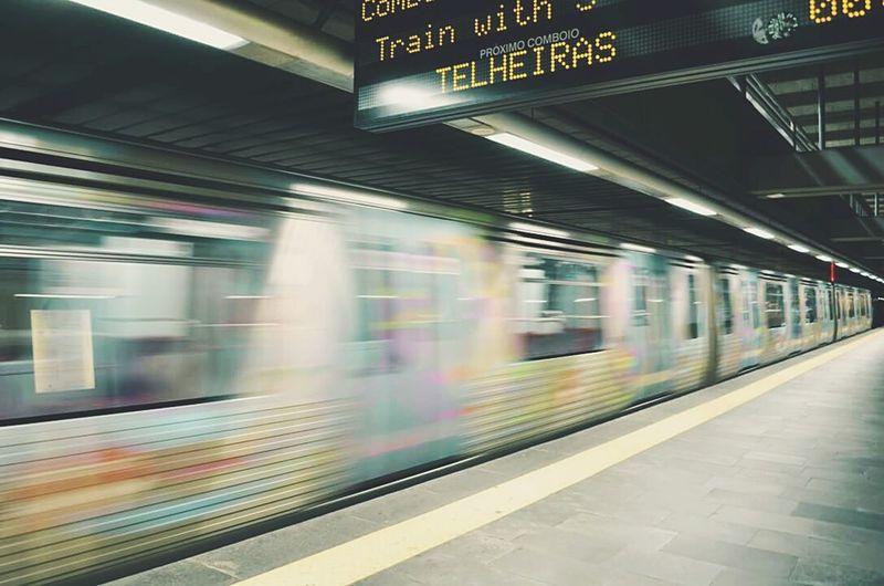 RePicture Travel Moving Fast Telheiras Train Movement Photography Fotografia