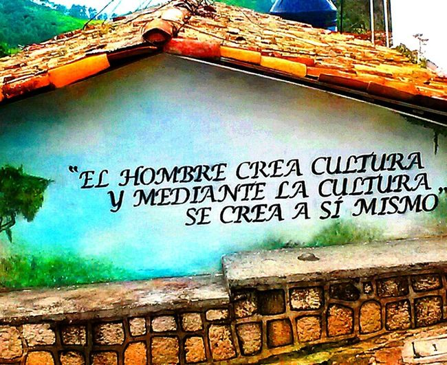 """Man creates culture, and through Culture Man Creates himself """