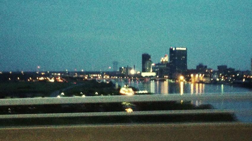 Downtown Skyline City Skyline River Toledo, Ohio