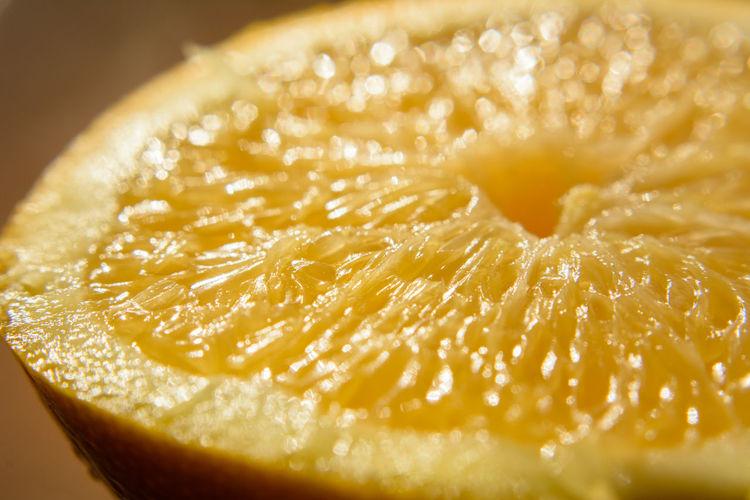 Close-up of halved orange
