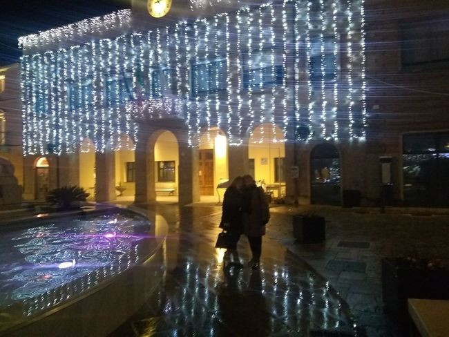 Holiday Moments City Water Illuminated Cityscape Tree Full Length Ice Rink Christmas Lights Silhouette Warm Clothing