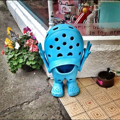 Croc person... #croc #improvedimage #blue #cornwall #stives Blue Cornwall Improvedimage Stives Croc