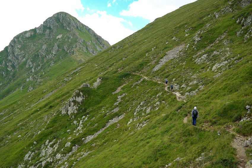 The walk we have to walk... life is ups and downs, just like a mountain Outdoors Green Color Grass Nature Beauty In Nature Mountain Joyful Moments Mountain Range Mountain Peak Landscape Rural Scene Hiking Family Time❤ Bulgaria Nature Love Life