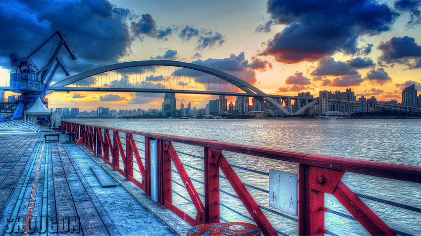 Bridge - Man Made Structure City Cloud - Sky Colors Connection EyeEmNewHere HDR Outdoors River Sky Sunset Water
