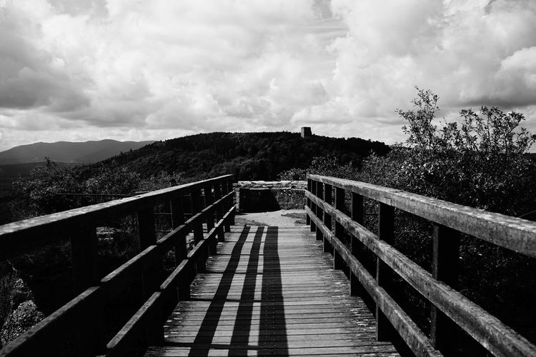 SONY A7ii Sky And Clouds Tranquility Beauty In Nature Black And White Blackandwhite Cloud - Sky Day Mountain Nature No People Outdoors Railing Sky Sony The Way Forward Tranquil Scene Tree EyeEmNewHere