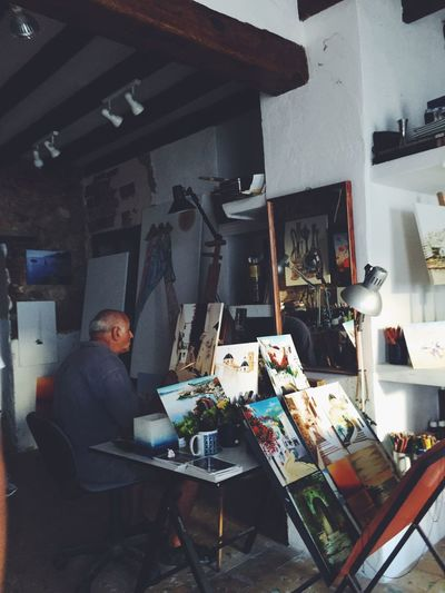 Little places One Person Skill  Real People Indoors  Occupation Workshop Paint Painting Painter Pintor Cuadro Pintura Art Artistic Artist Artistic Expression Enjoying Life