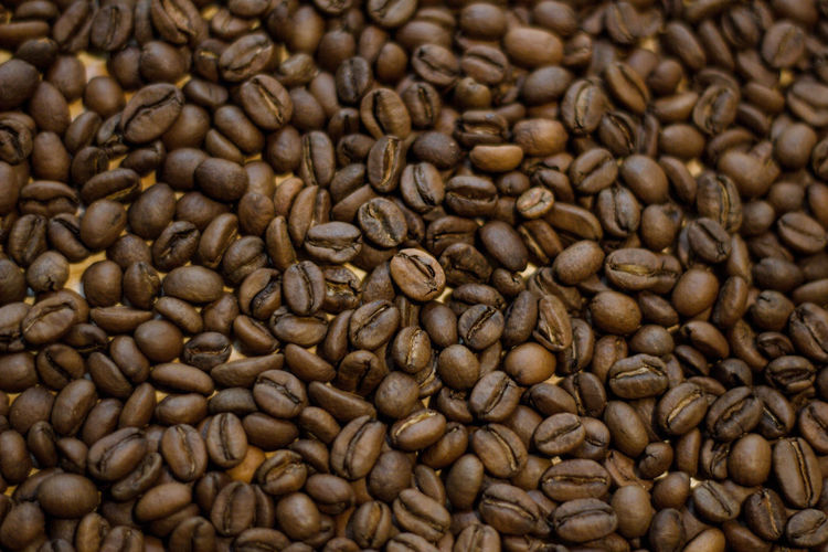 Food And Drink Coffee Coffee - Drink Roasted Coffee Bean Food Drink Backgrounds Freshness Full Frame Brown No People Large Group Of Objects Close-up Indoors  Abundance Scented Refreshment Caffeine Roasted Still Life Textured Effect