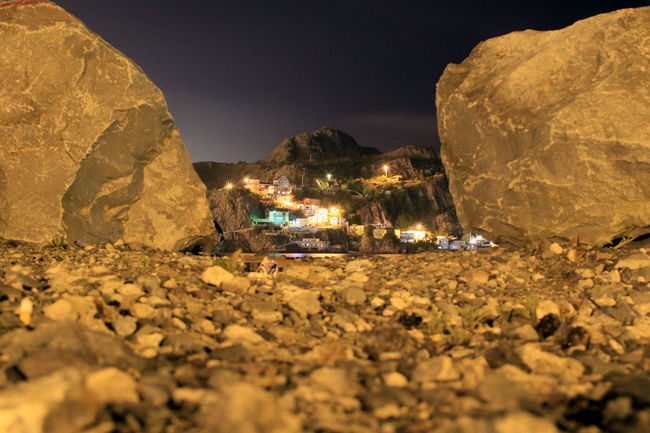 Beauty In Nature Idyllic Illuminated Landscape Mountain Nature Newfoundland, Canada Night No People Outdoors Remote Rock Rock - Object Rock Formation Scenics Selective Focus Sky St. John's Newfoundland Stone - Object Surface Level Tranquil Scene Tranquility Travel Destinations