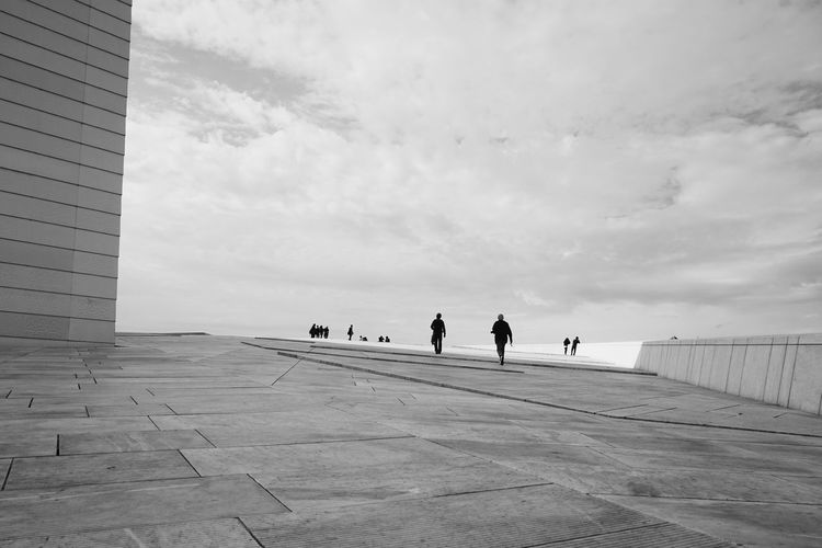 Oslo Opera House Arcitecture Beauty In Nature Black & White Black And White Blackandwhite Blackandwhite Photography City Cloud - Sky Cloudy Day Monochrome Oslo Oslo Norway Oslo Opera House Outdoors Scenics Sky Solitude Surface Level The Way Forward Tourism Tourist Attraction  Tourist Destination Tranquil Scene Monochrome Photography The Architect - 2017 EyeEm Awards Breathing Space