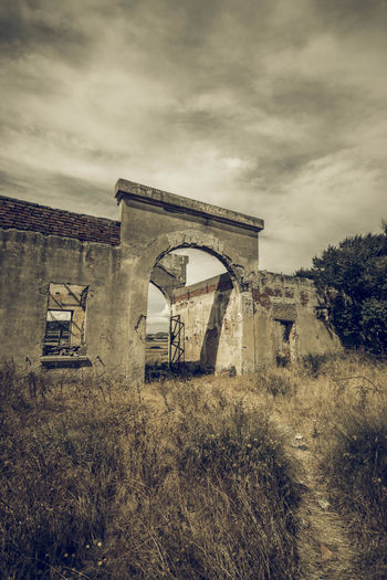 Abandoned Arch Architecture Building Exterior Built Structure Cloud - Sky Damaged Day Greece Landscape Landscape_photography Lostplace Low Angle View No People Old Ruin Outdoors Rhodes Silkfactory Sky EyeEmNewHere