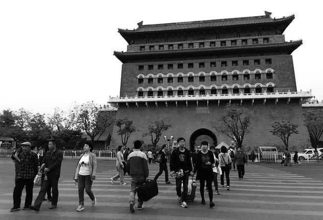 Chinese Architecture City Gate Landmark of Beijing