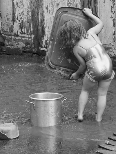 Girl Playing in