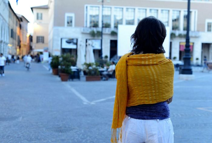 Pesaro Italy EyeEmRussianTeam Streetphotography Girl Siluet Evening Walk Streetphoto_color Unknowngirl Shadows & Lights