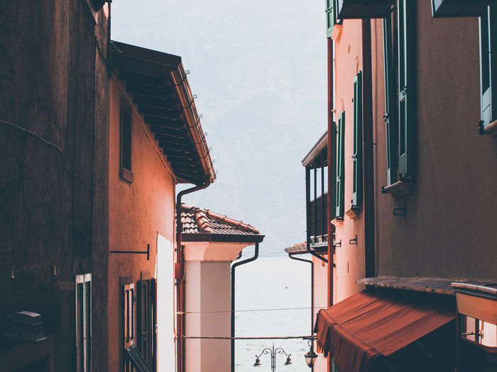 Street  in limone - italy