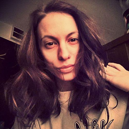 Natural Beauty No Make Up Messy Hair Eyes And Lips