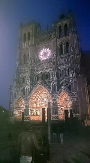 Architecture Building Exterior Church Illuminated Night Outdoors Place Of Worship Sky Travel Destinations