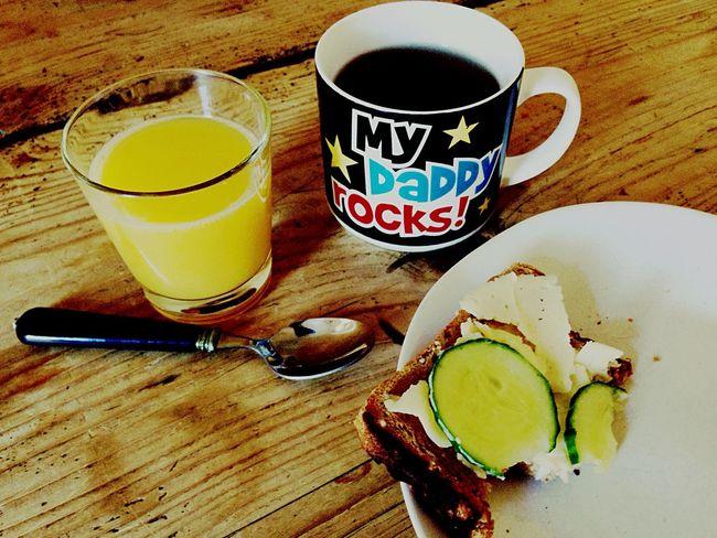 Time For Breakfast  Cup Sandwich Halfeaten Daddy