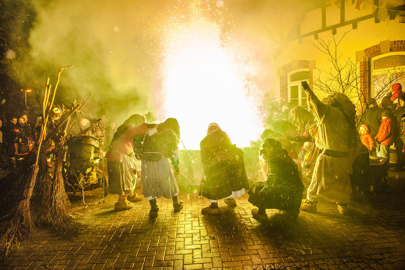 Darkness Fire Folklore Southern Germany Swabian-Alemannic-Carnival Torches Tradition Tübingen Bühl Witch Dance Witches Äscha Deita