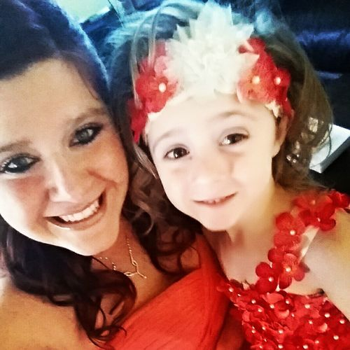Mommy And Daughter Wedding Day Bridesmaid And Flower Girl
