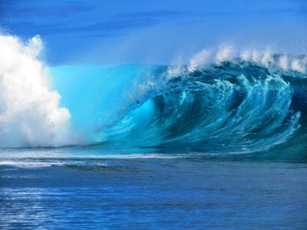 Power In Nature Water Wave UnderSea Sea Blue Motion Beach Sky Cloud - Sky A New Beginning