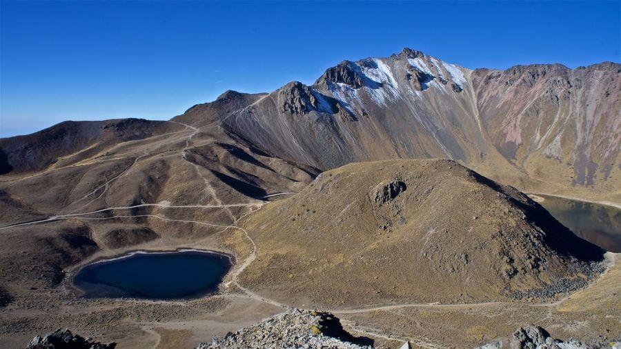 Sol Y luna Beauty In Nature Desert Laguna Del Sol Lake View Landscape Mountain Mountain Peak Nature Nevado De Toluca Sky Volcano Volcano Crater Xinantecatl
