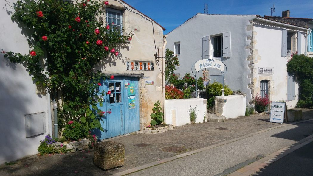 Architecture Building Exterior Outdoors Built Structure House Day Residential Building No People Tree Window Box Flower Sky City Charentemaritime France Streets Mornacsurseudre Village Photography Streetphotography One Person Clear Sky Charente-Maritime France Photos Francetourisme