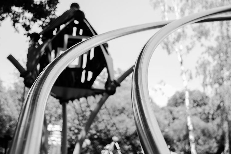 playground Focus On Foreground Day Metal No People Close-up Nature Shape Plant Built Structure Selective Focus Architecture Transportation Tree Outdoors Sky Geometric Shape Circle Wheel Design Land Vehicle Steel
