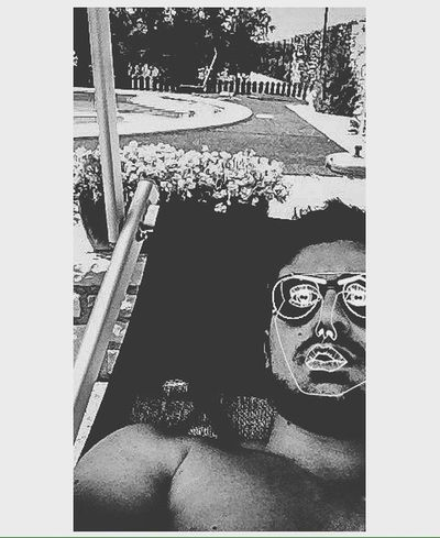 Me myself & I One Person Leisure Activity Sunglasses Lifestyles Outdoors Day Portrait Nature Pool Sun Summer Goodday Like Followme Face Blackandwhite Wild Freedom